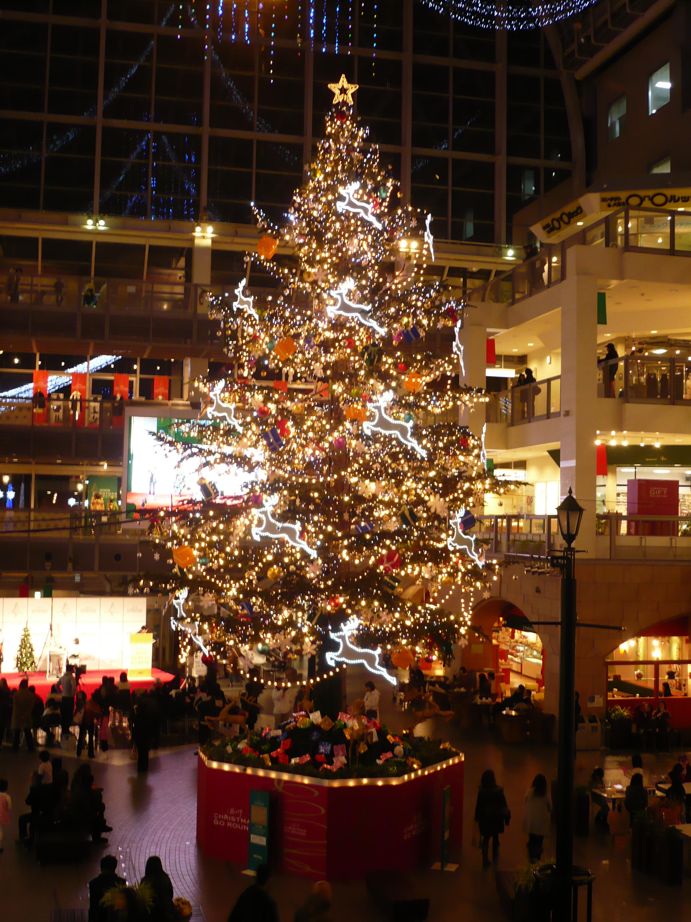 ジャンボクリスマスツリー♪