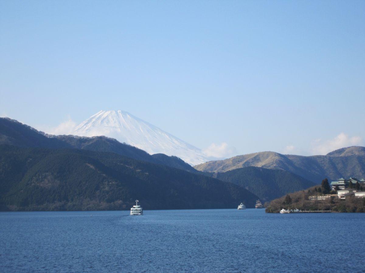 海賊船から見た富士山