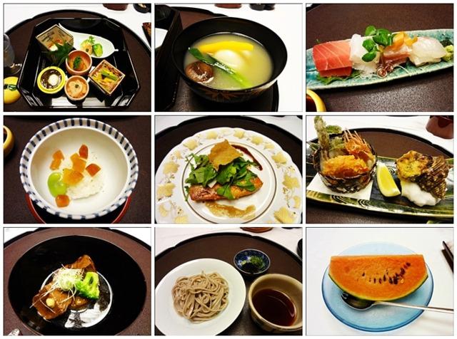 迎賓館熱海小嵐亭 2013年5月来訪時の夕食