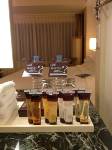 シェラトングランドホテル広島 泡立ちが良く無いシャンプーで残念。