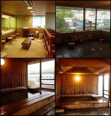 迎賓館熱海小嵐亭 本館にある大浴場、檜葉の湯