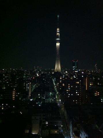 東武ホテルレバント東京 目の前にはスカイツリー。