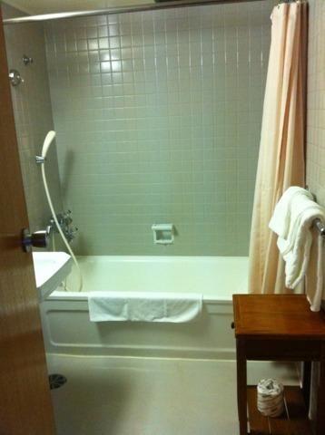 日光金谷ホテル バスルームは至って普通でした。温泉だったらよかったのになぁ。