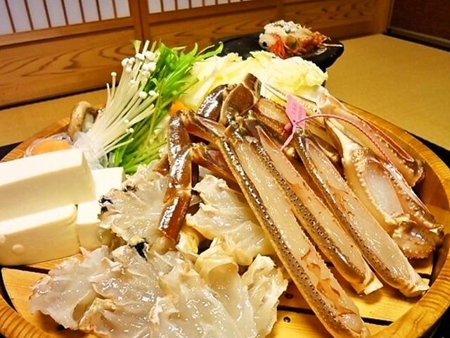 香住 いまご荘 櫂の詩 冬の味覚、柴山かにの活蟹は最高です