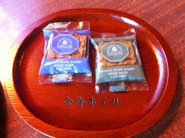 日光金谷ホテル お部屋に用意されていたお菓子。