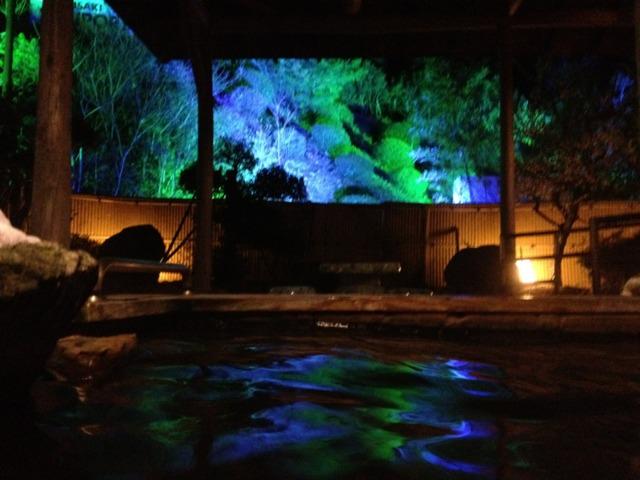 五感の宿 慶泉 貸し切り露天風呂からの景色幻想的でゆっくりできました。