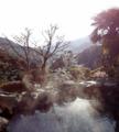 湯河原温泉 美食の宿 おやど瑞月 冬の冷たい空気がとても清々しい朝の露天風呂