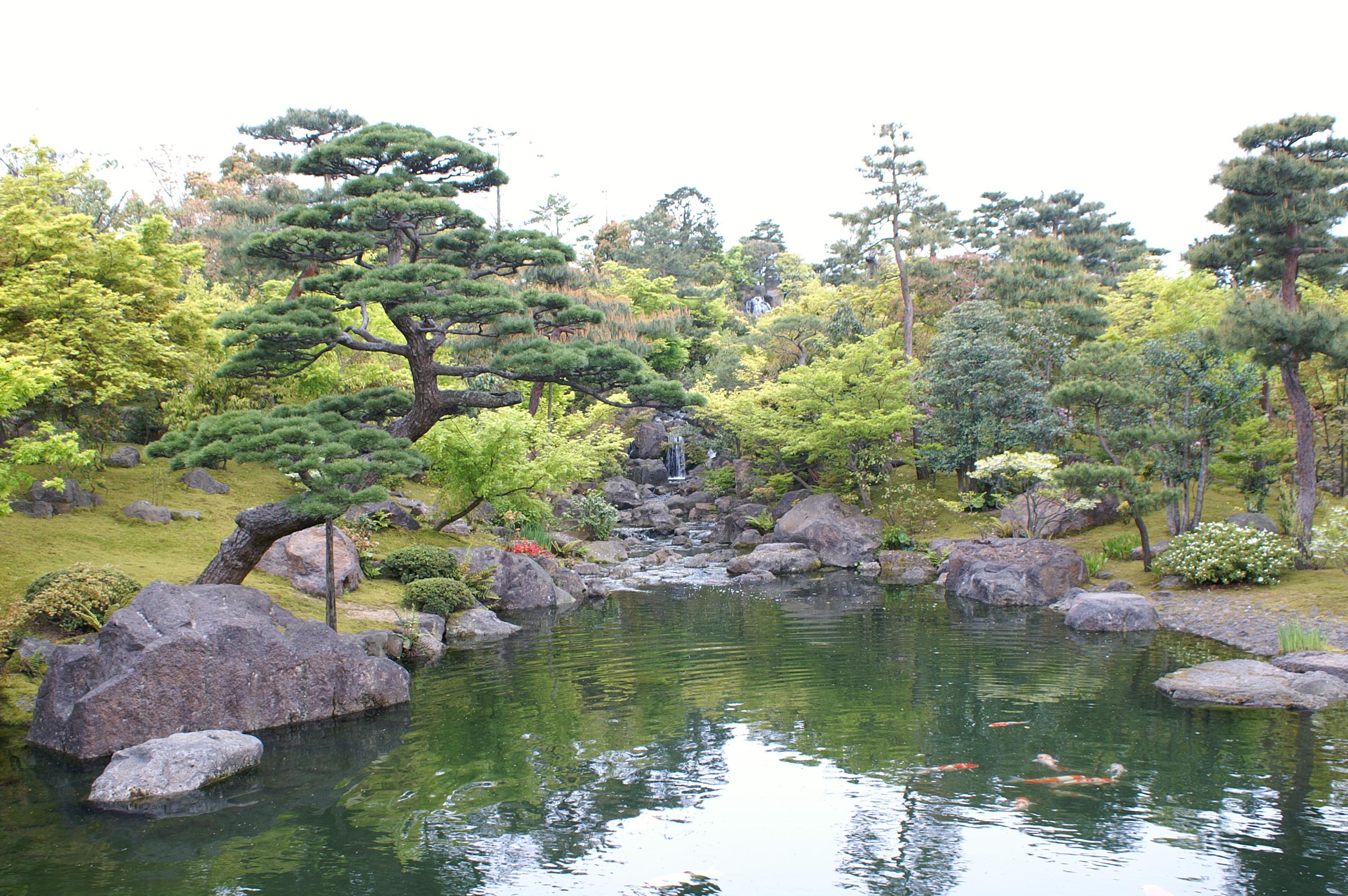 由志園の庭園
