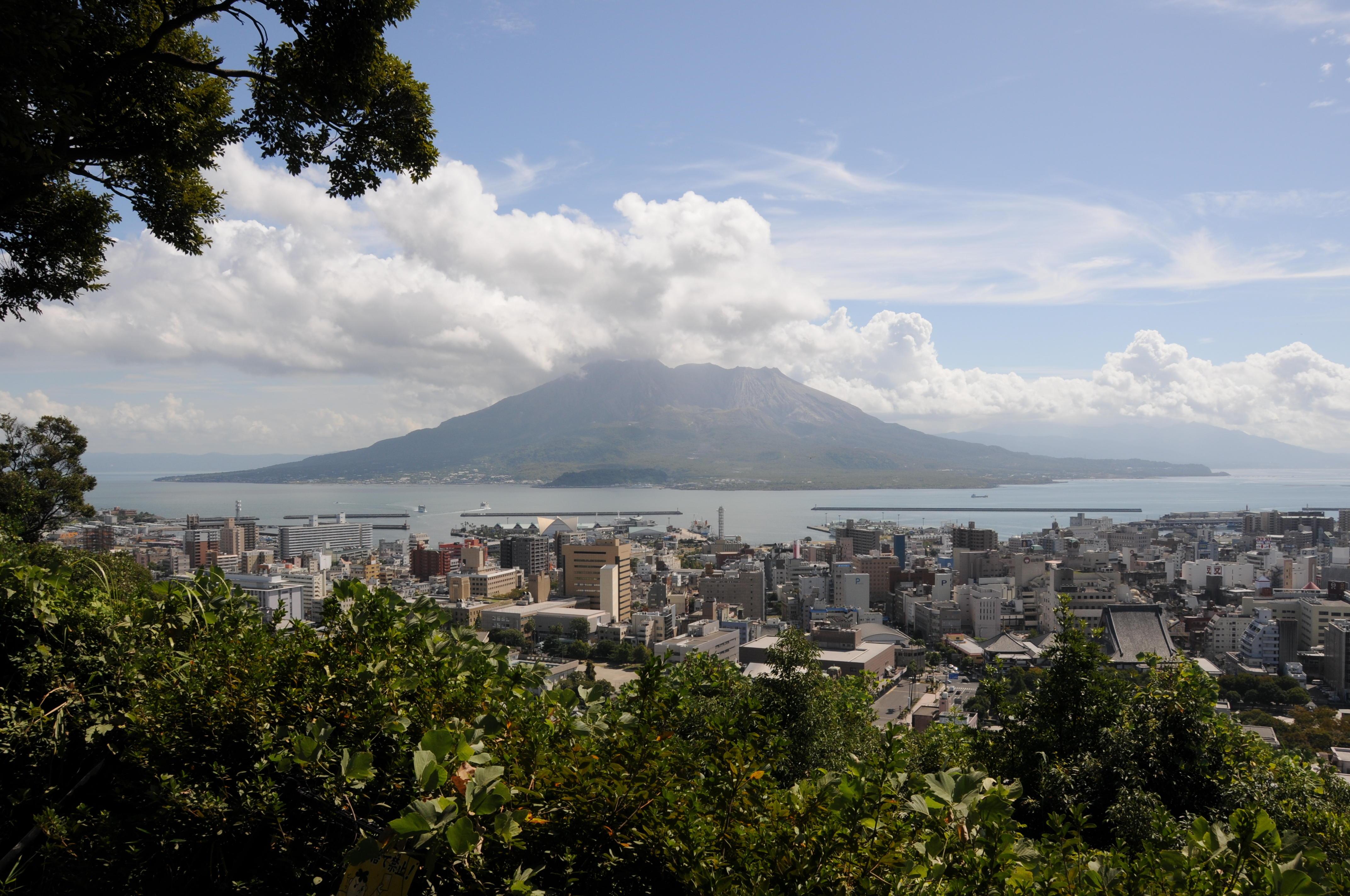 城山からみる桜島