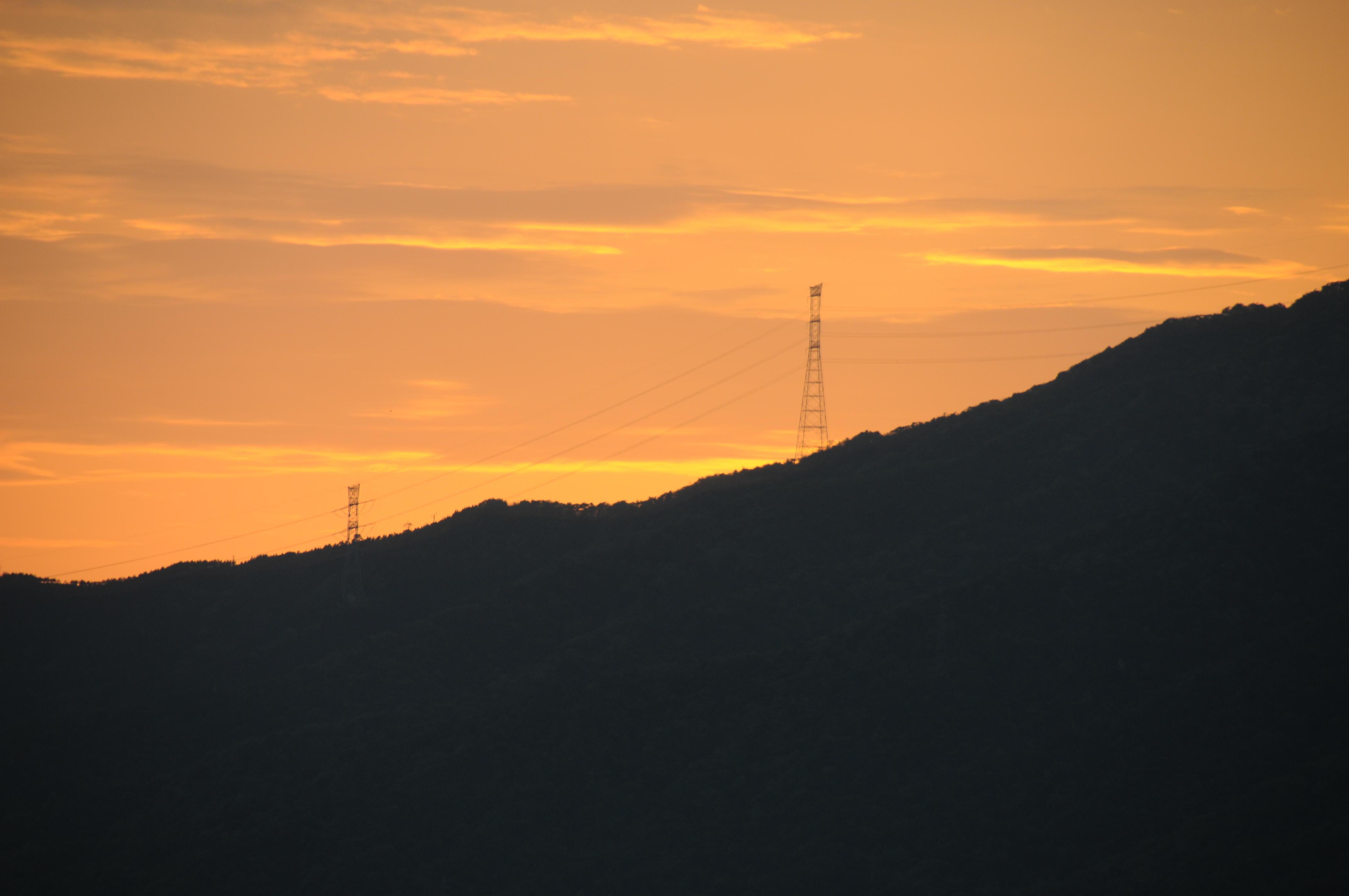 敦賀の夕焼け
