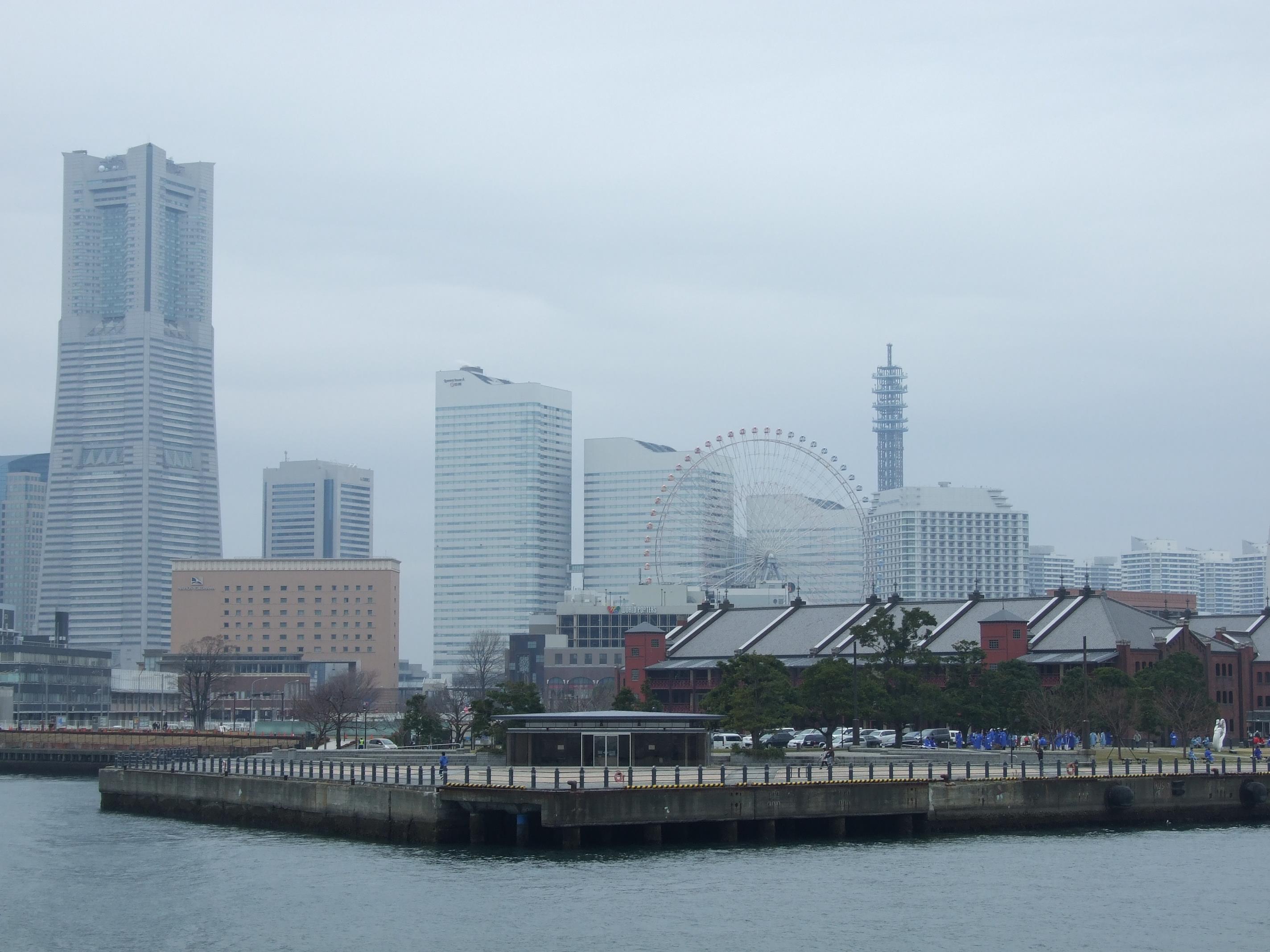 大桟橋からの赤レンガ倉庫