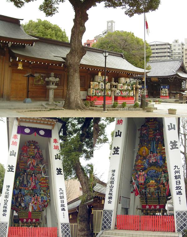 色鮮やかな櫛田神社の飾り山