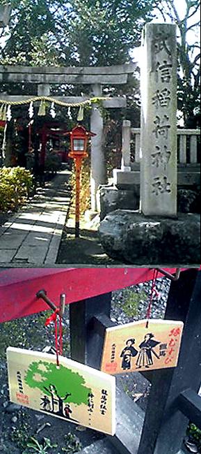 武信稲荷神社>榎にたくした「龍」の文字