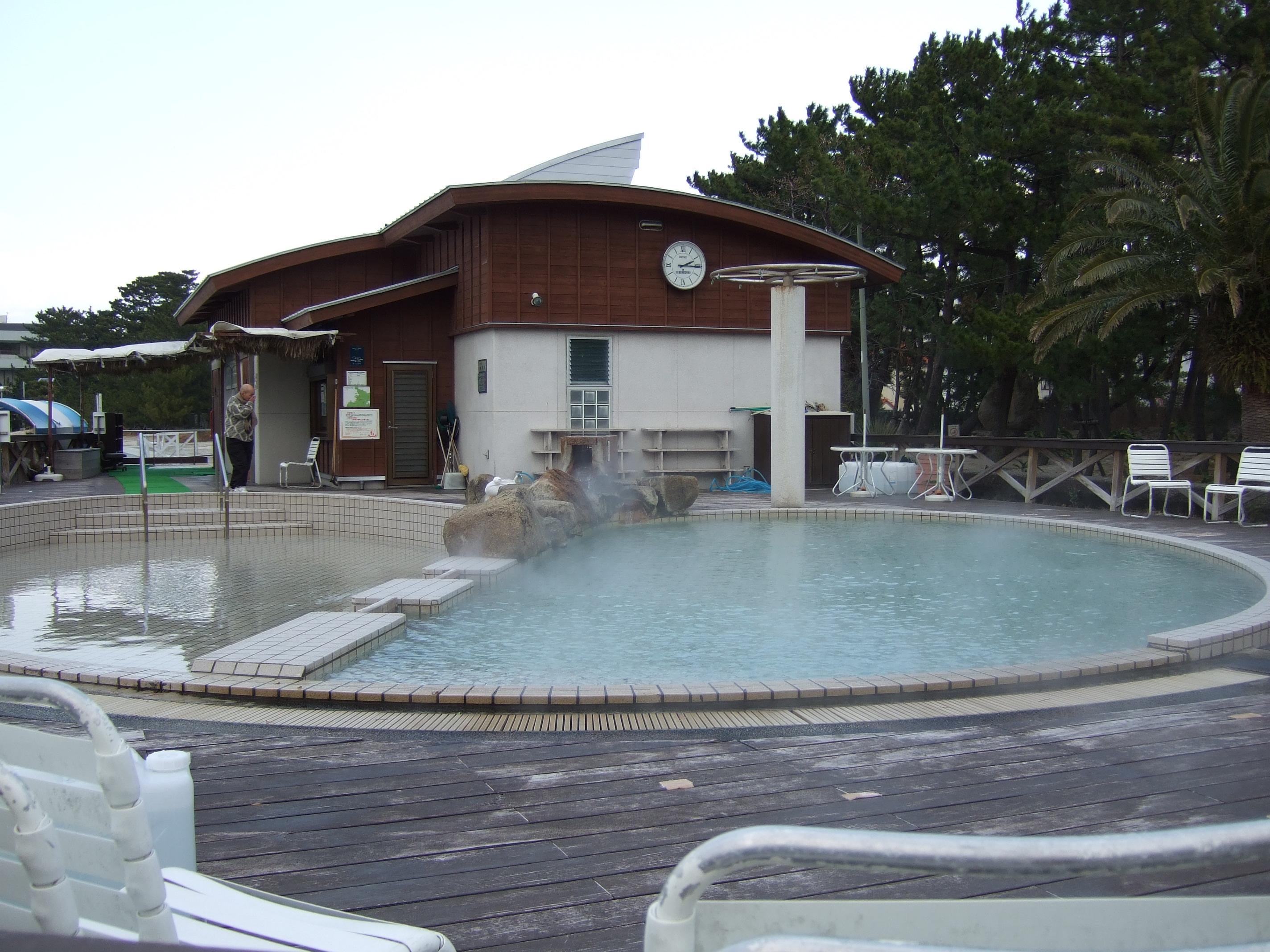 白良浜を一望できる露天風呂