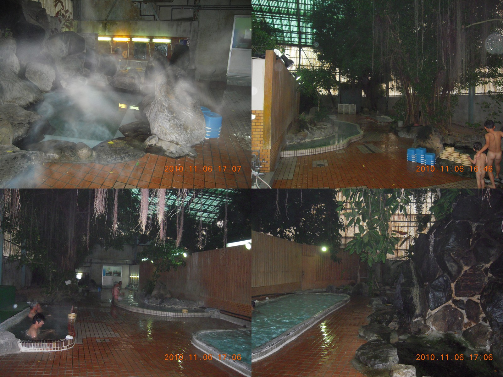 ジャングル風呂と家族湯9室