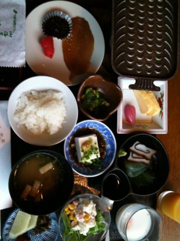 宇奈月国際ホテル 宇奈月国際ホテルの朝食。訪問は八月でした。