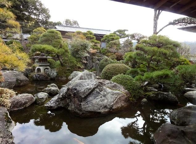 修善寺石亭 鬼の栖 離れ「嵐山」からのお庭の眺め