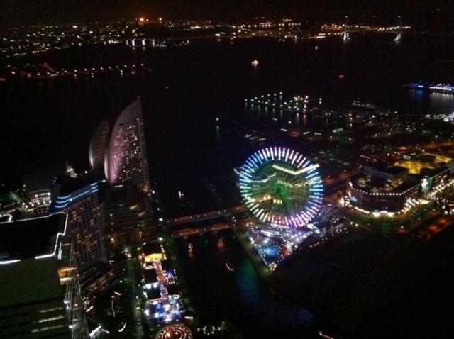 横浜ロイヤルパークホテル こんな景色をみたのは初めてです。