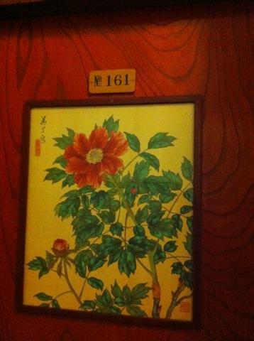 富士屋ホテル 花御殿は、部屋のドアにも花の絵。