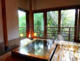 熱海 三平荘 木漏れ日が射す、離れ「光」の半露天風呂